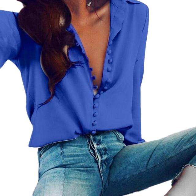 CUHAKCI Casual Tops Blouse Women Long Sleeve Shirt Button Club Female Turn-down Collar Plus Size Blouse 5XL Autumn Sexy Shirts 5
