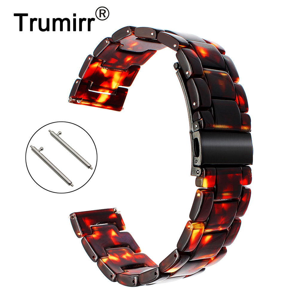 22mm Quick Release Resin Watchband for Samsung Gear 2 R380 Neo R381 Live R382 Vector Watch Band Stainless Steel Buckle Strap gub 889f r quick release fender board red