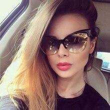 XYKGR retro sexy cat eye sunglasses fashion brand designer women's black box leo