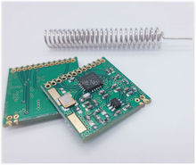 SI4432 wireless transceiver module + Spring antenna Distance 1000 meters through walls FCC / CE цена и фото