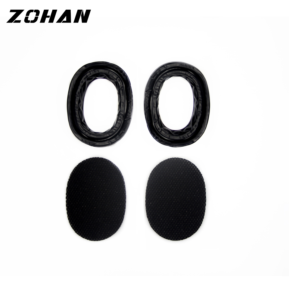 Купить с кэшбэком ZOHAN One Pair Silica Gel Ear Pads for 3M Peltor Earmuffs ZOHAN Replacement Ear Cushion Kit for Ear Defenders Protection