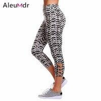 Aleumdr Floral Print Crisscross Detail Leggings LC77026