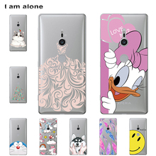 I am alone Phone Cover For Sony Xperia XZ3 Cases 6.0 inch Solf TPU Cellphone Fashion Cute For Sony Xperia XZ3 Bag Shipping Free
