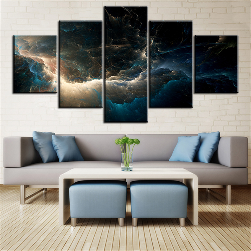 The Best Set Deep Light Dark Abstract Cloud NO FRAME Oil Painting Canvas  Prints Wall Art Pictures For Living Room Decorations In Painting U0026  Calligraphy From ...