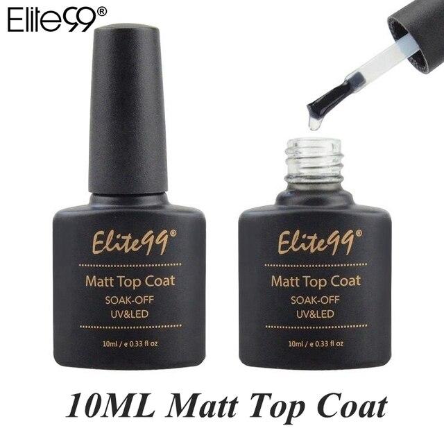 Elite99 Matt Top Mantel 10 ml Nail art Maniküre LED Tränken Weg UV Gel Lack Mode Nagel Gel Polnisch Lange anhaltende Matte Top Mantel