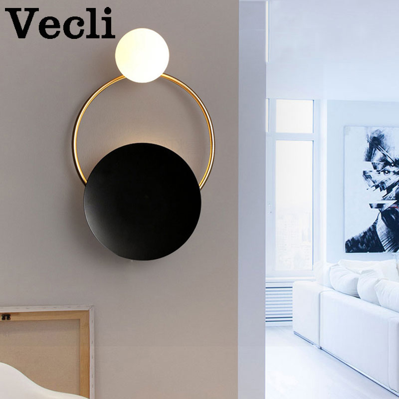 Weg Postmodern creative personality hardware living room wall lamp Art bedside bedroom designer model decoration