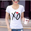 New Man Fashion T Shirts Women Xo Heart Drake Hip Hop Ovo Xo Fitnesss Printed Clothing Camiseta Short Sleeve Slim Ladies Top Tee