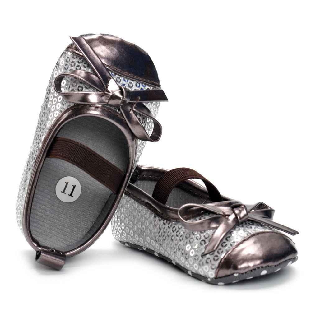 2018 ทารกแรกเกิดเด็กสาวรองเท้าเด็กทารกรองเท้าผ้าใบเด็กวัยหัดเดิน PreWalker Trainers ฤดูใบไม้ผลิฤดูใบไม้ร่วงผ้าฝ้ายเลื่อมยางรองเท้า