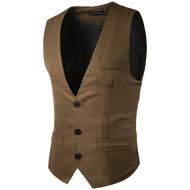 Formal Groom Wedding Suit Vests Male Coat Sleevelss Slim Business Suit Waistcoat Solid Vests Jacket Men Tops Oversized Z10