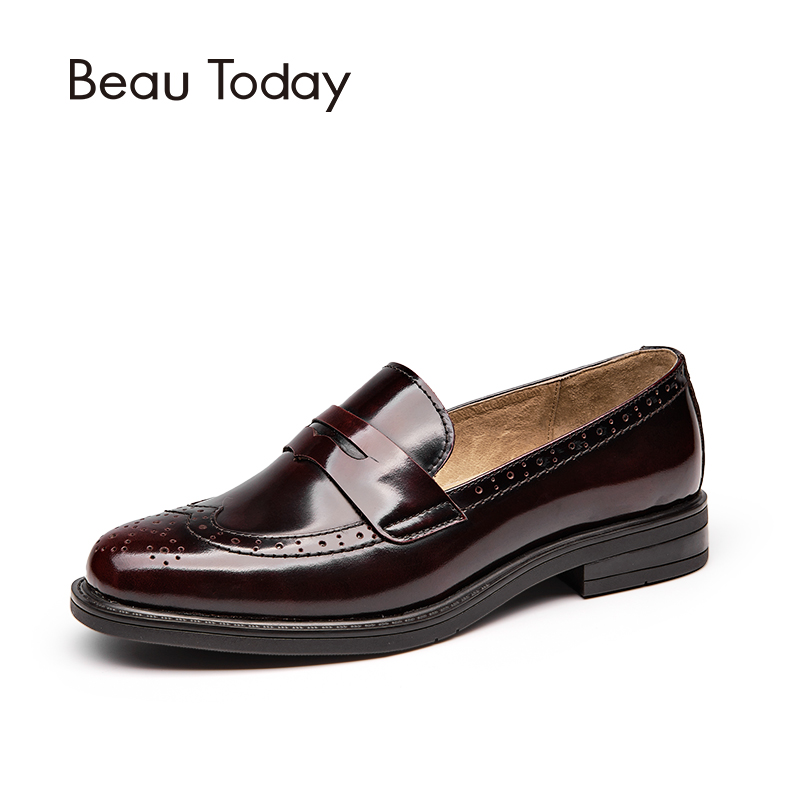 Beau Today Brand 2017 New Arrival Women Loafers Brogues Wingtip Ladies Oxfords Shoes Black Wine Red Slip On Penny Moccasinss 486299 001 motherboard tested by system lap connect board