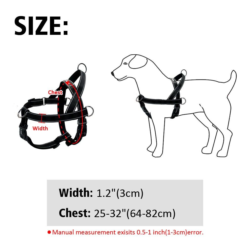 Nylon Anti-Pull Reflective Dog Harness