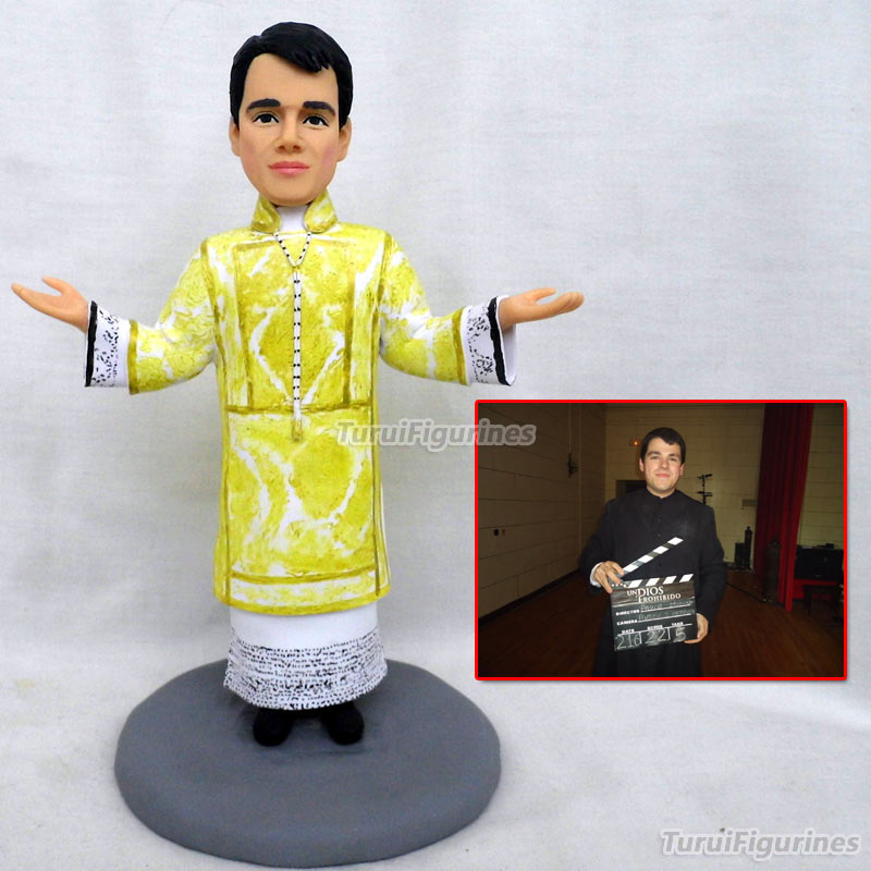 wedding Cake Topper Customize Polymer Clay Doll From Picture photo ...