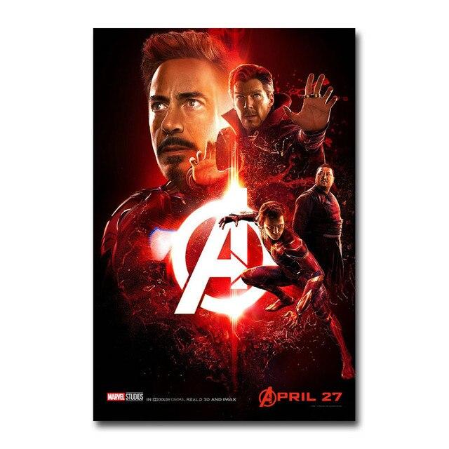 Плакат гобелен Мстители: война бесконечности Шелк вариант 2
