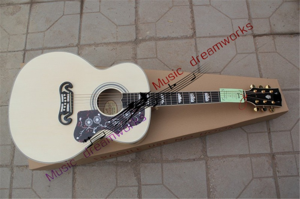 China OEM shopfirehawk Acoustic guitar GIB J200 The original wood color tiger stripes ebony fingerboard with high quality 2015 h1 led cree high lumen 30w 3000lm 6000k no need fan