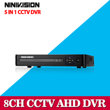 NINIVISION 8CH AHD DVR AHD-NH HD 1080P Video Recorder H.264 CCTV Camera Onvif Network 8 Channel IP NVR Multilanguage With Alarm