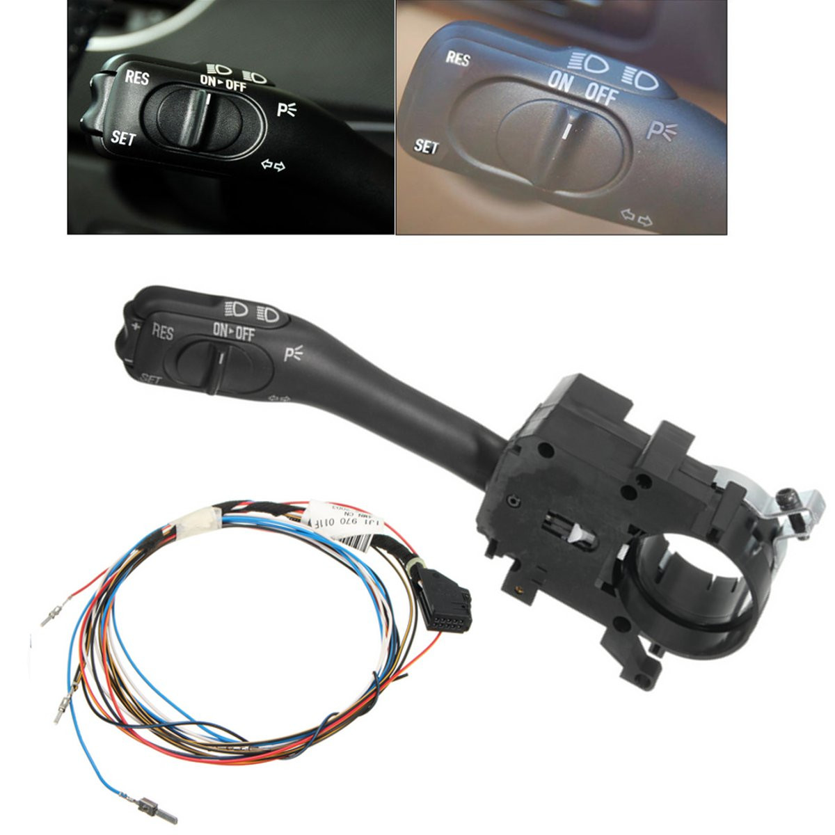 New Cruise Control System Indicator Stalk Switch & Harness Wire For VW Golf GTI Bora MK4 18G-953-513-A 1J1-970-011-F