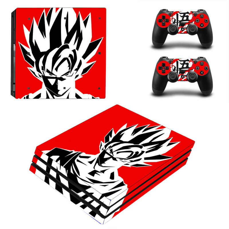 Dragon Ball Vinyl Skin Sticker for Sony PS4 Pro Console and 2 Controllers Decal Cover Game Accessories