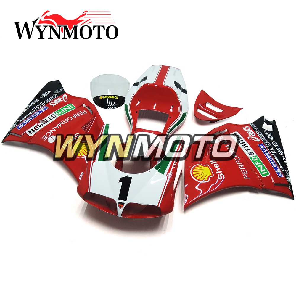 Fairings For Ducati 996 998 916 748 Monoposto Year 96 01 1996 2000 2001 2002 ABS Motorcycle Fairing Kit Red Cowlings NEW