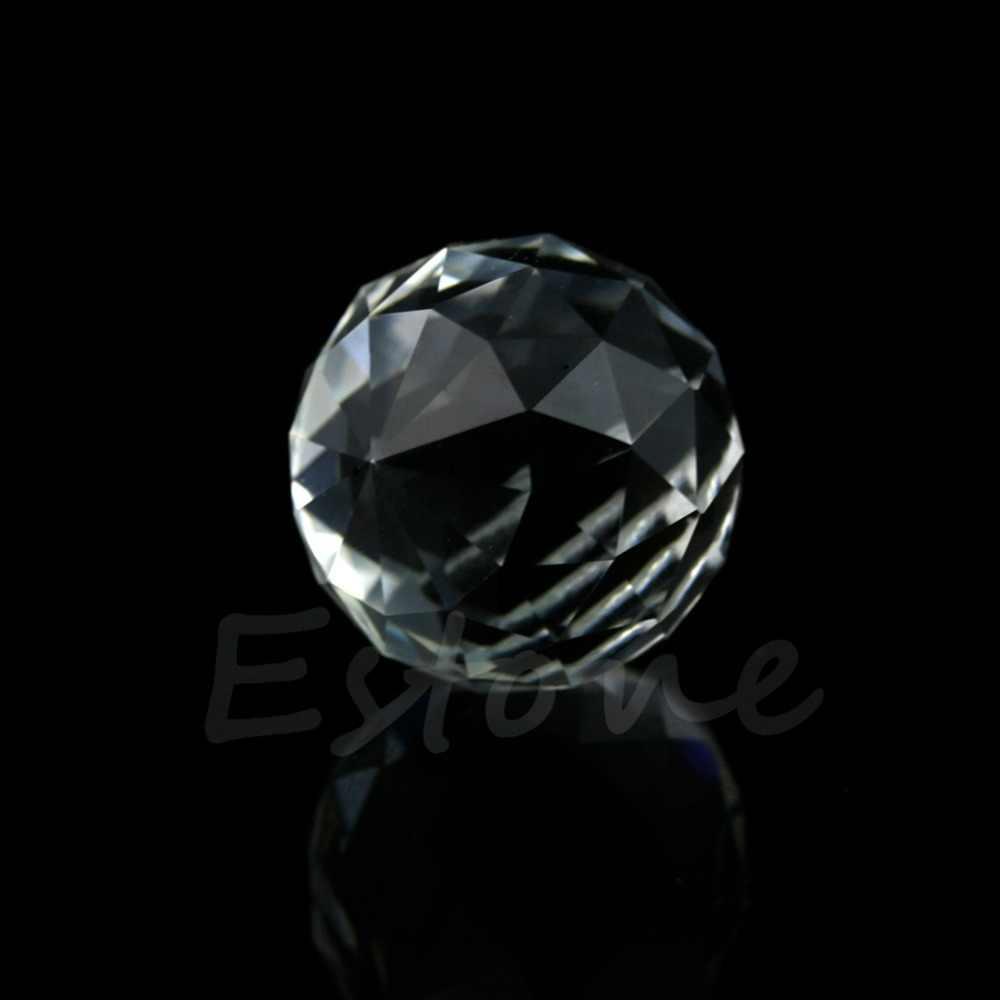 Clear Crystal Lamp Ball Hanging Prism Suncatcher Wedding Decor 20mm 1 pcs