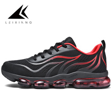 Hot Network Reds Flame Running Shoes Big Air Sole Lace-up Breathable Outdoor Sport Sneakers Cushioning Zapatillas Mujer