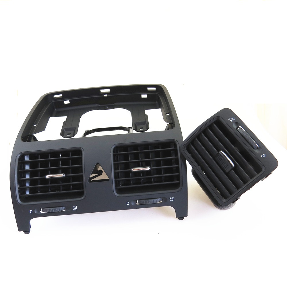 ZUCZUG Center Left Dashboard Air Conditioning Grille Air Outlet Vent Set For VW Rabbit Golf MK5 Jetta MK5 1KD 819 728 1KD819703 2017 car dashboard console central air conditioning ventilation grille air outlet trim for vw jetta 4 bora mk4 1998 2005