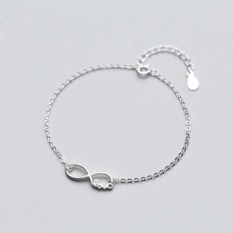 100% 925 Sterling Silber Fußkettchen Für Frauen Fuß Zubehör Unendliche Liebe Kette Fußkettchen Armband Mädchen Dame Strand Sommer Schmuck