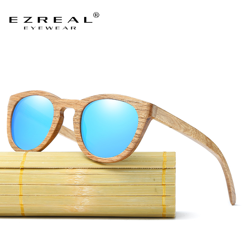 EZREAL Vintage Du γυαλιά ηλίου γυαλιά ηλίου Polarized Γυναίκες πραγματικές μπαμπού ξύλινα γυαλιά ηλίου Γυαλιά ηλίου γυαλιά ηλίου γυαλιών ηλίου με υπόθεση
