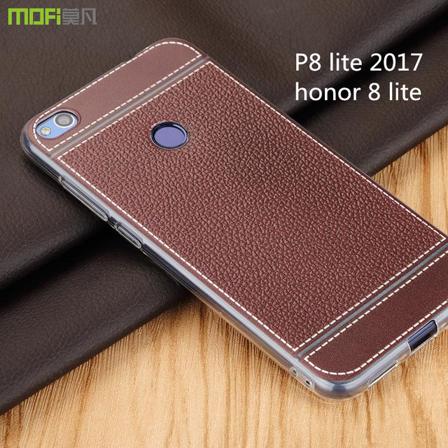 wholesale dealer 01fac e7e88 US $8.95 |Huawei p8 lite 2017 case pu leather case honor 8 lite case soft  back case tpu silicone coffee imitation leather p8 lite 2017-in Fitted  Cases ...