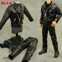 1/6 scale male man boy clothing motorcycle leather clothes set suits for 12'' man action figure body accessory цена в Москве и Питере