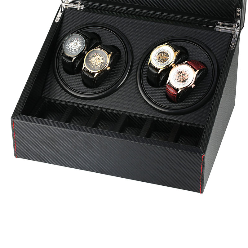 6+4 Automatic Watch Winder Box Collection Display Silent Motor US/UK/AU/EU Plug Wristwatch Storage Box Luxury remontoir montre | Watch Winders