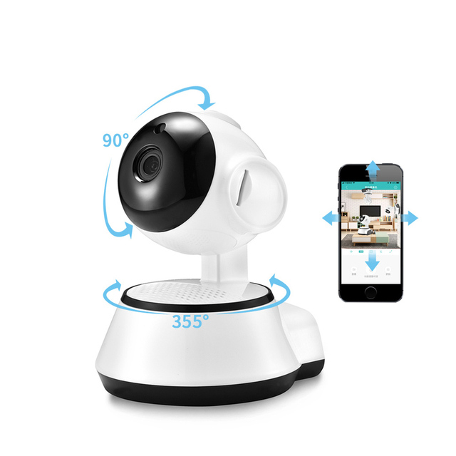 US $19 73 34% OFF|V380 APP Pan Tilt Wireless IP Camera Wifi 720P HD CCTV  Camera Home P2P Security Surveillance Two Way Audio TF Card Slot  Supports-in