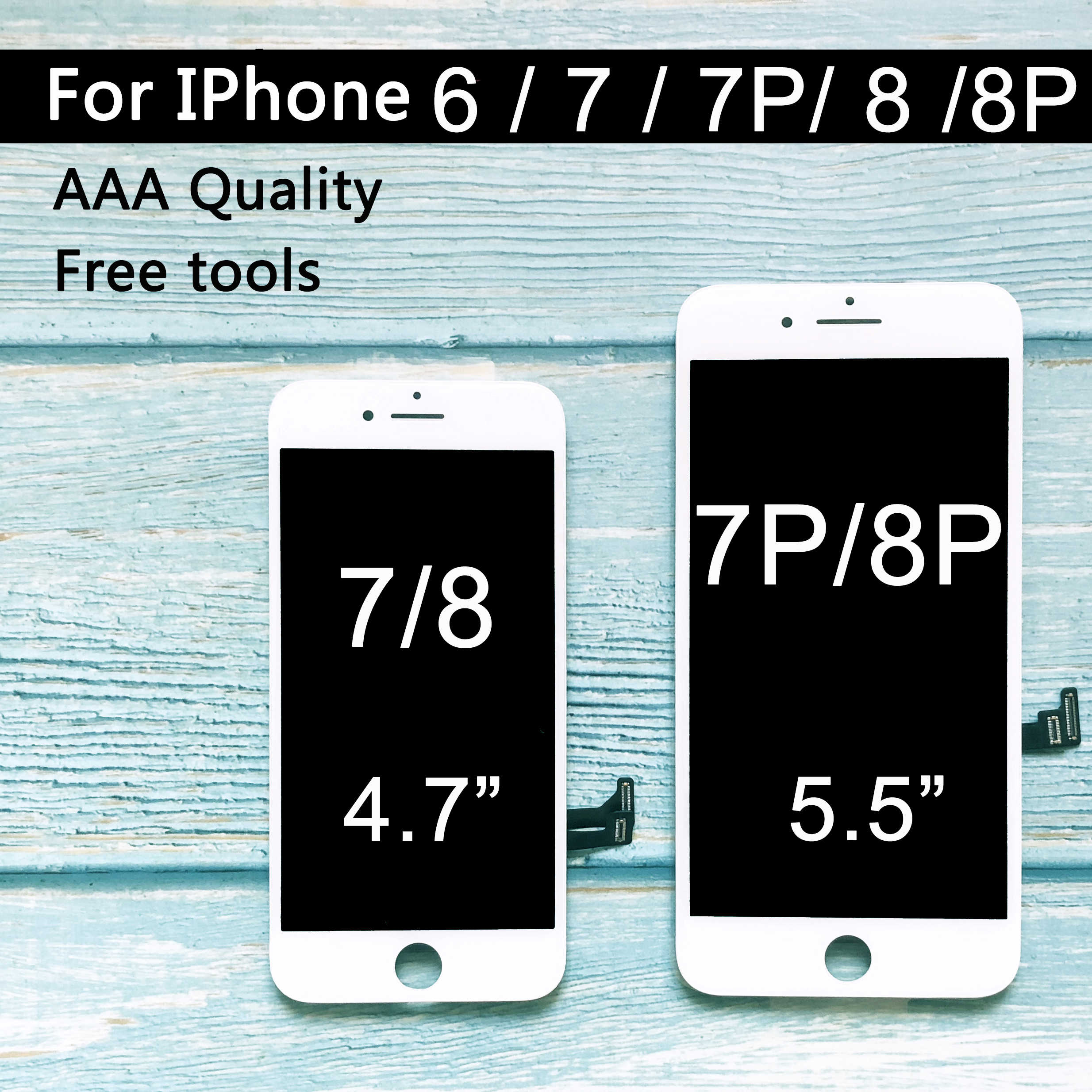 Reemplazo de fábrica LCD para iphone 7 Plus pantalla LCD montaje digitalizador táctil para iphone 7 LCD para el iphone 8 Plus LCD