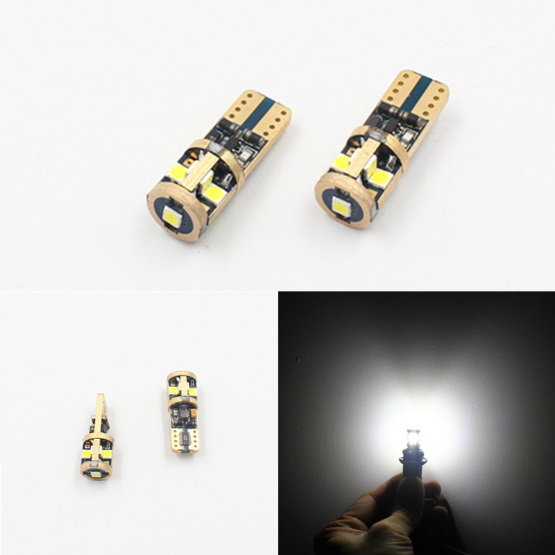 2pcs T10 w5w 194 501 LED bulb car light SMD 3030 9smd canbus error free lamp wedge parking dome light auto car styling 12v 24v new t10 6 smd 5050 194 w5w 501 led car light colourful led canbus error interior light bulb remote control dc 12v