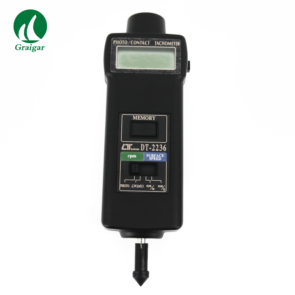 DT2236 Multifunctional, one instrument combines PHOTO TACH& CONTACT TACH