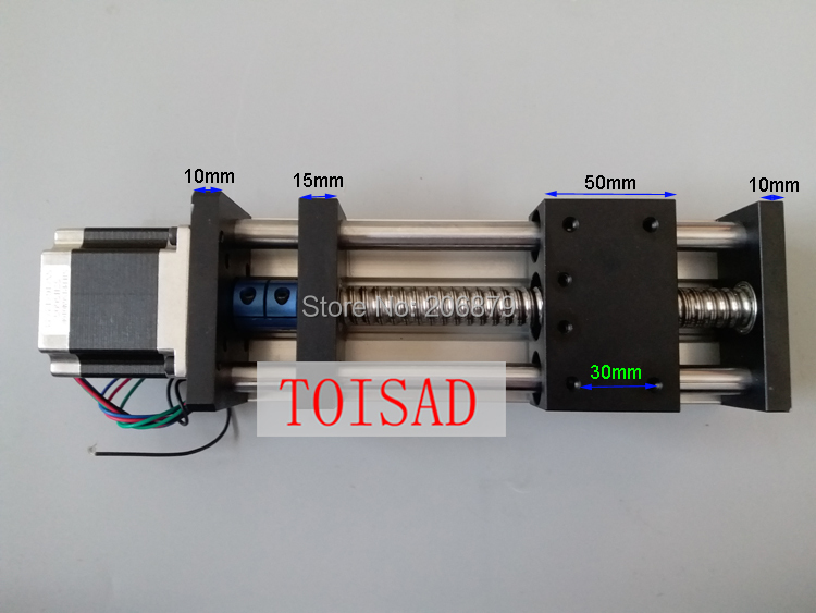 100mm Effective Travel Length 1605 16mm Ball screw Linear Guide Rail Motion Module Table CNC Slip