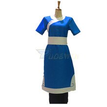 цена на Anime Avatar The Last Airbender Katara Cosplay Costume Custom Made Any Size