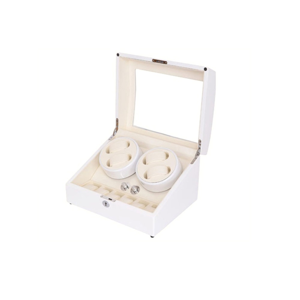 Watch Winder, LT Wooden Automatic Rotation 4 + 6 Watch Winder Storage - Tilbehør til ure - Foto 2