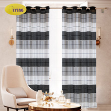 21 Farger Nordic Moderne Gardiner til Vinduer Stue Soverommet Striped Home Decor Tilpassede Made Natural Polyester Drapes