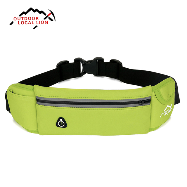 Outdoor Local Lion Running Belt Bag Small Waterproof Lightweight Gym Bags Sport Music Waist Pocket New