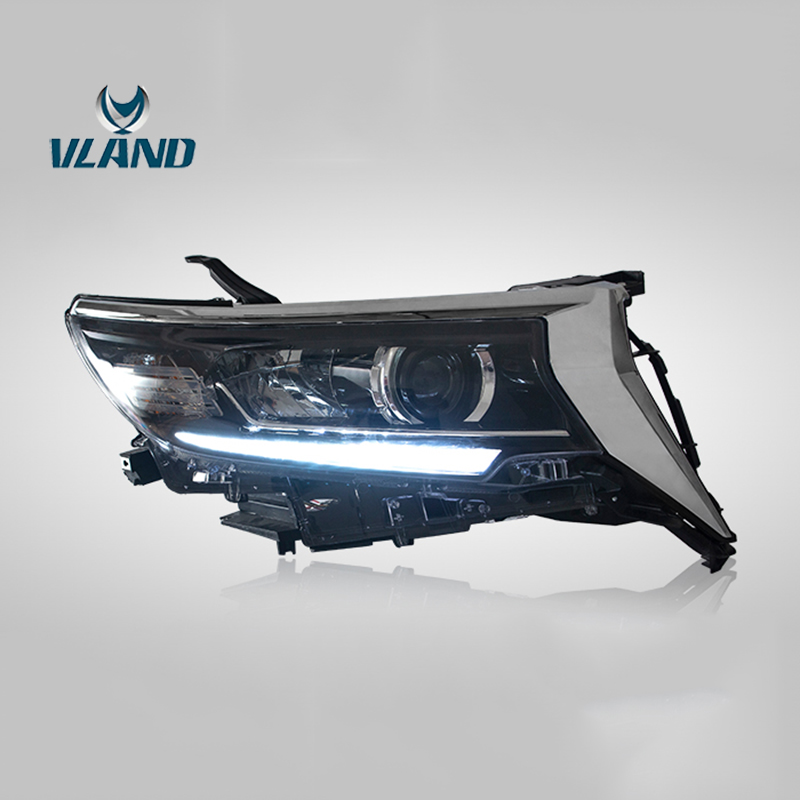 Vland Factory Car Accessories Head Lamp for Toyota Land Cruiser Prado 2018 up Full LED Head