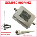Display LCD! Mini GSM 900 MHZ GSM 980 Telefone Celular Repetidor de Sinal de Reforço, kit Amplificador de Sinal de Telefone celular com antena 1 Conjunto