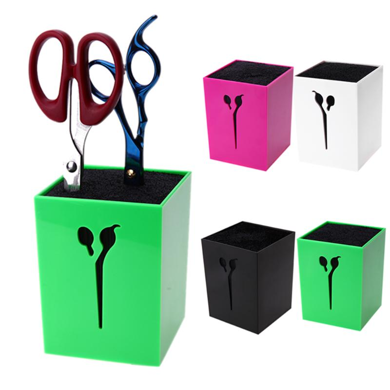 Salon Hairdressing Scissors Holder Comb Clamps Stand Kit Barber Scissors Hair Clips Box Organizer Salon Styling