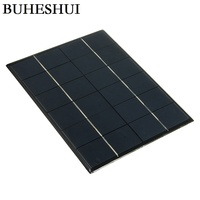 BUHESHUI Wholesale 6V 5.2W Mini Solar Panels Solar Power 3.6V Battery Charge Solar Cell 210*165*3MM 10pcs/lot Free Shipping