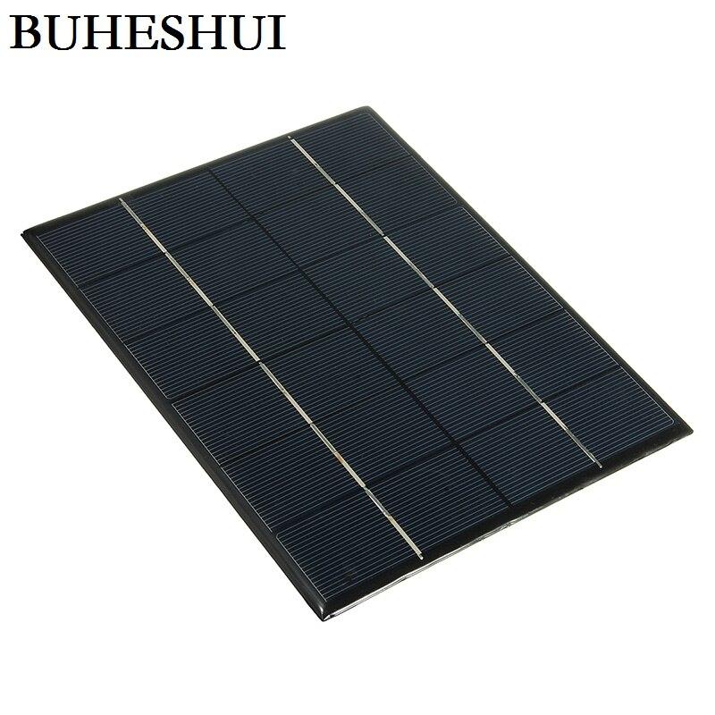 BUHESHUI gros 6 V 5.2 W Mini panneaux solaires énergie solaire 3.6 V batterie Charge cellule solaire 210*165*3 MM 10 pcs/lot livraison gratuite