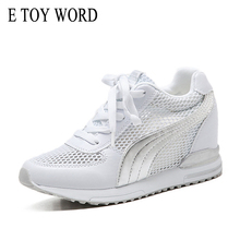 E TOY WORD Women Sneakers Spring Autumn women Casual Shoes Mesh Woman height increasing Basket Femme