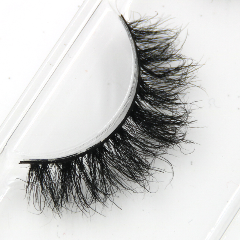 YOKPN Mink False Eyelashes Messy Cross Soft Cotton Stalk Natural Short Fake Eyelashes Smoke Banquet Makeup Mink Eye Lashes