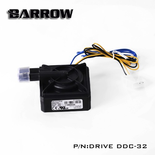 high quality DRIVE DDC-32 Barrow water cooling DDC pump for computer case 12v ddc water pump 50,000 hours Maximum lift: 5 m barrow brass chrome plated ddc pump top cover can connect the water tank tbts20 v1 g