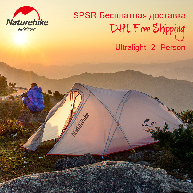 2017 NatureHike New Tent Camping 2 Person Couple 20D 3 Seasons Waterproof Double Layer Outdoors Camping Durable Gear Picnic Tent dhl free shipping naturehike factory sell double person waterproof double layer camping durable gear picnic tent 20d silicone page 7