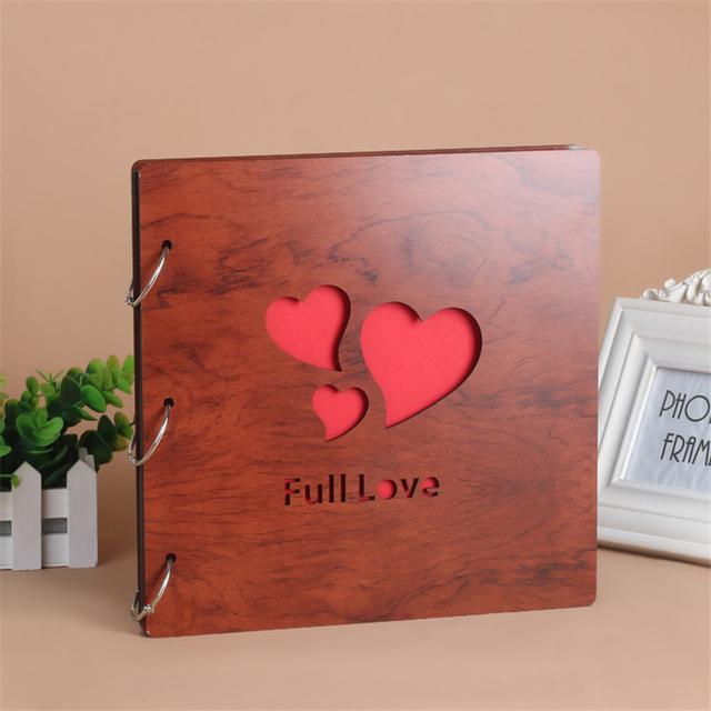 12 Inch DIY photo album loose-leaf book bronze card circle key ring card buckle scrapbooking paper scrapbook album for wedding