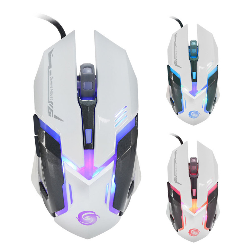 Best Price 3200 DPI 6D Buttons LED Wired Gaming Mouse For PC Laptop